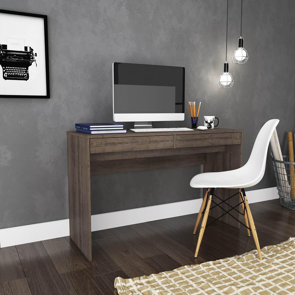 Mesa para Escritório com 2 Gavetas MSM 439 Rústico