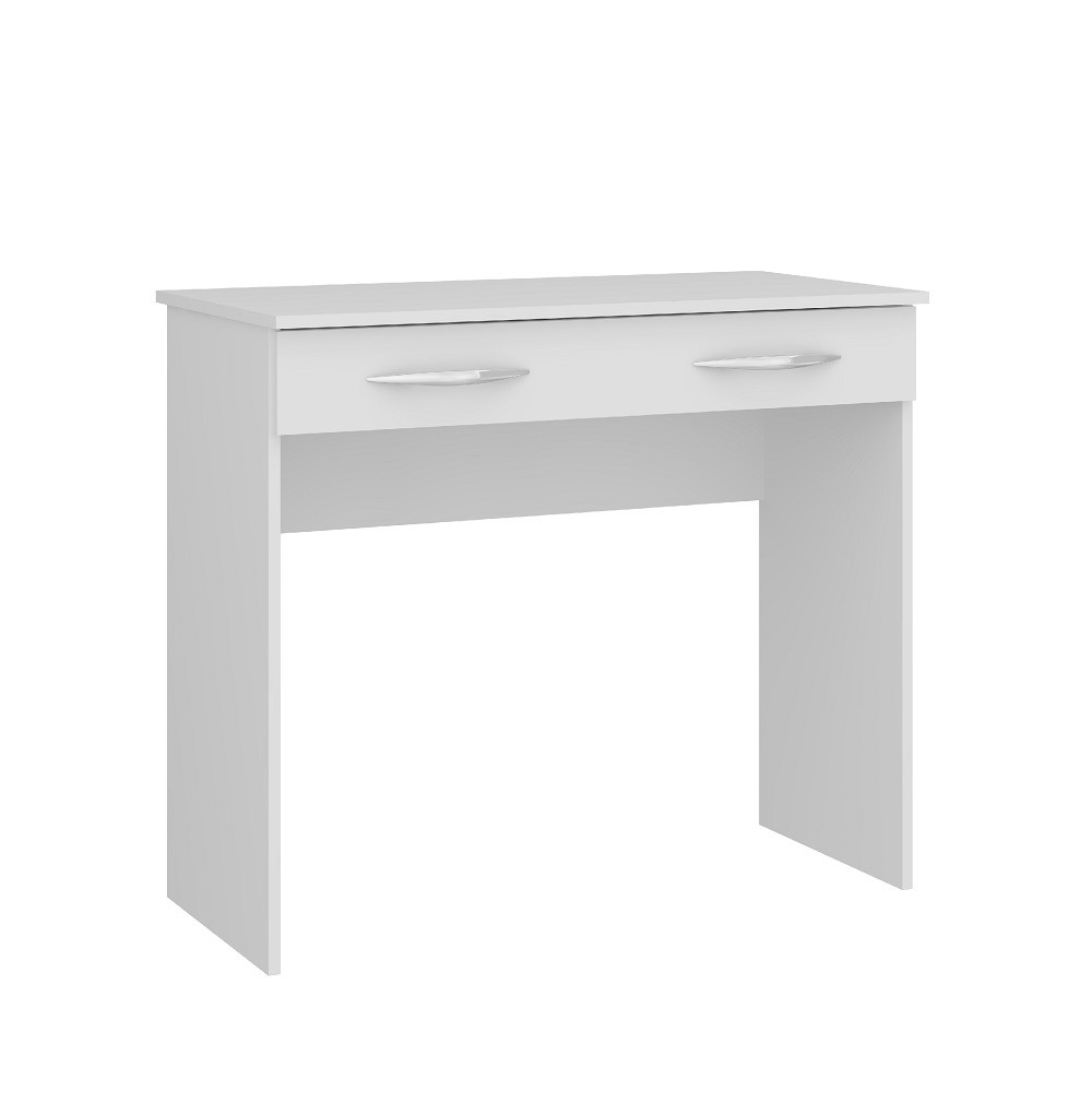 Mesa para Escritório Slim com 1 Gaveta 0702 Branco Soluzione