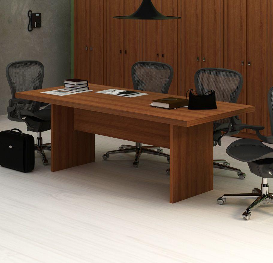 Mesa Reunião para Escritório ME4119 Tecno Mobili Amêndoa