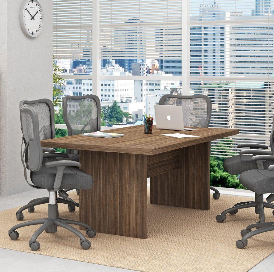 Mesa Reunião para Escritório ME4119 Tecno Mobili Nogal