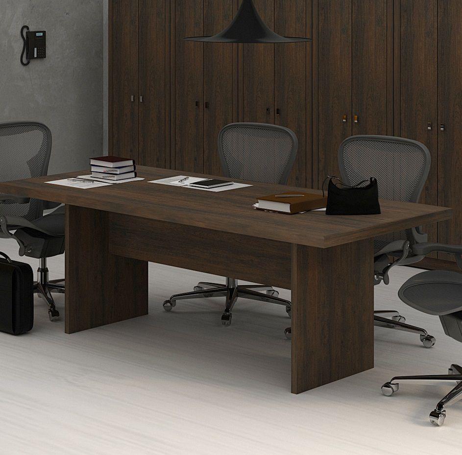 Mesa Reunião para Escritório ME4119 Tecno Mobili Rústico