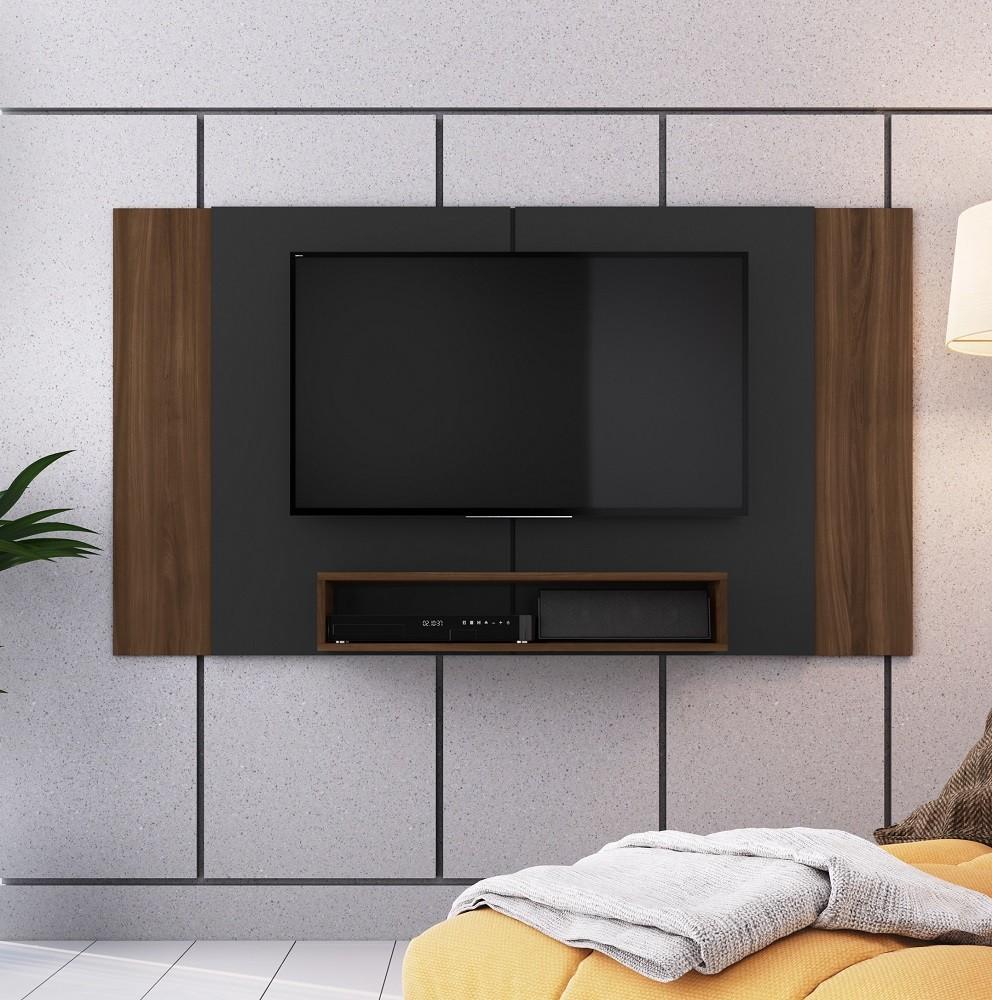 Painel para TV Extensível Preto/Madeirado