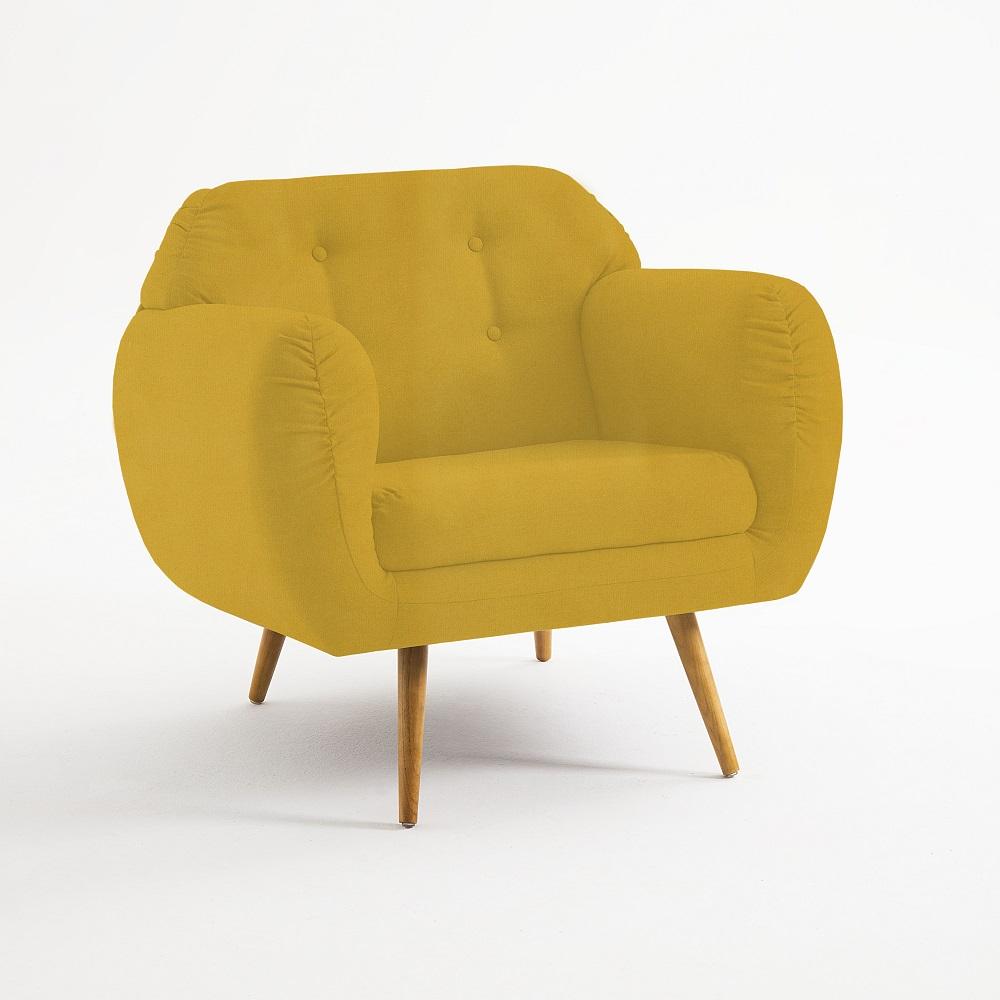 Poltrona Estofada Beatle 7024 Amarelo