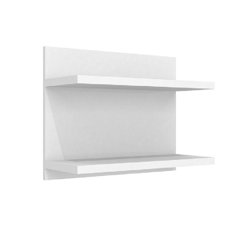 Prateleira Dupla 54cm com Fixação Invisível PR 002 Branco