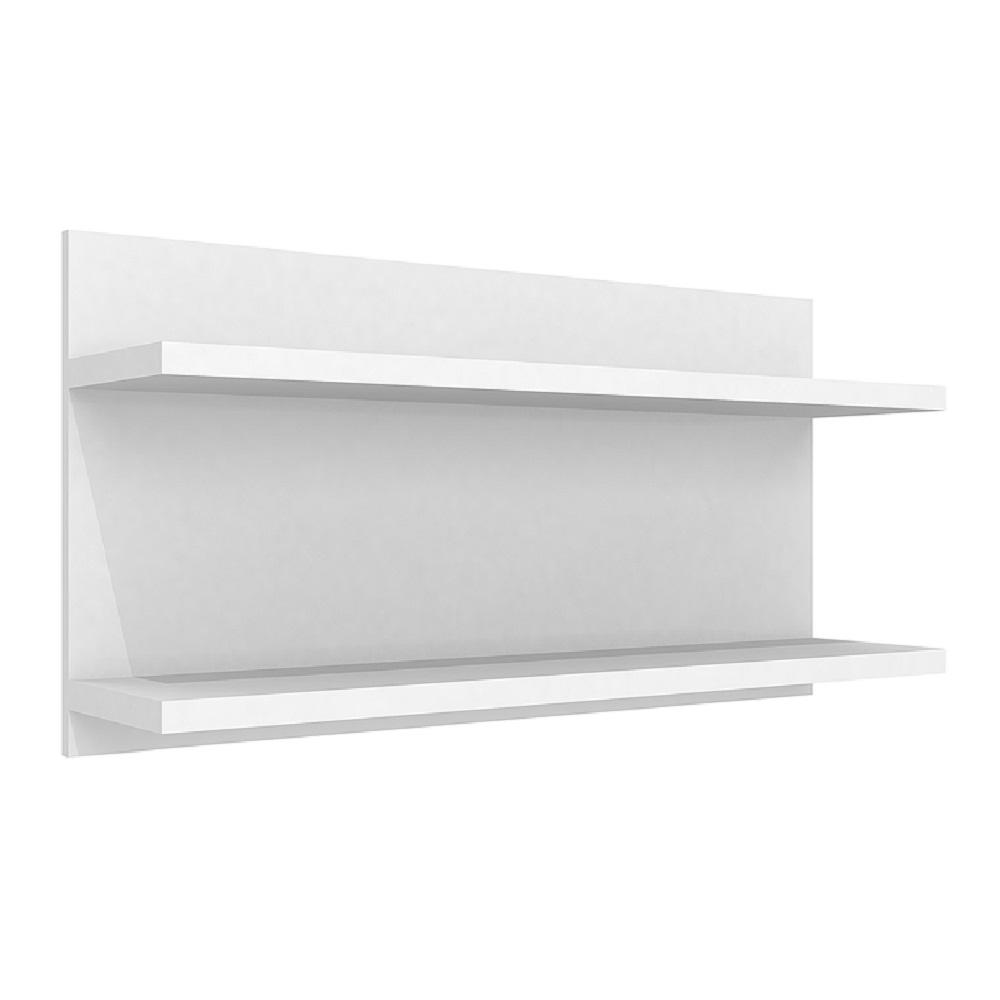 Prateleira Dupla 90cm com Fixação Invisível PR 004 Branco
