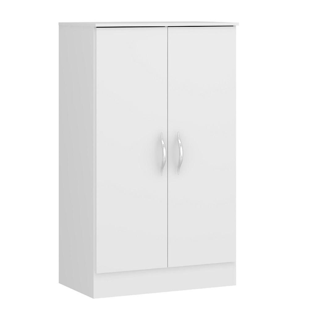 Sapateira Baixa com 2 Portas e Prateleiras 1021 Branco Soluzione