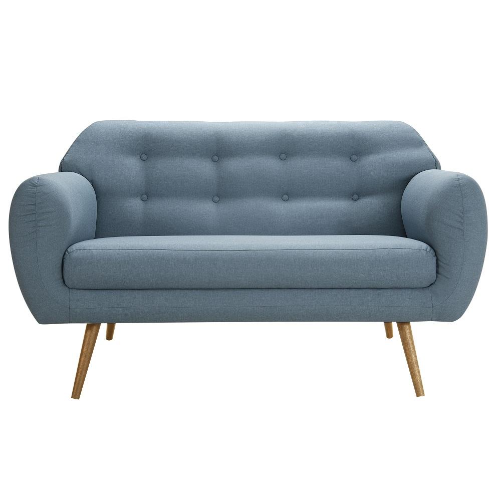 Sofá de 2 Lugares Beatle 7025 Azul Jeans