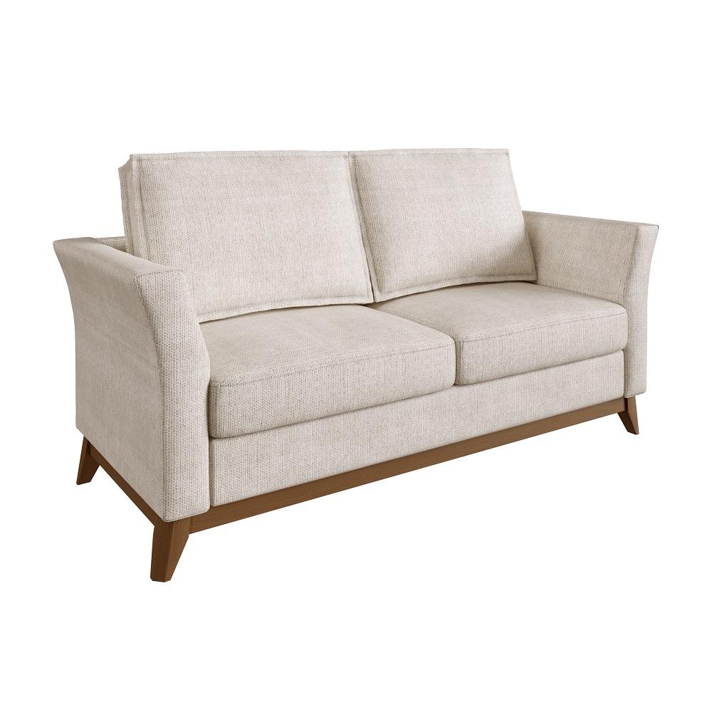 Sofá de 2 Lugares Bege Branco Vinkel
