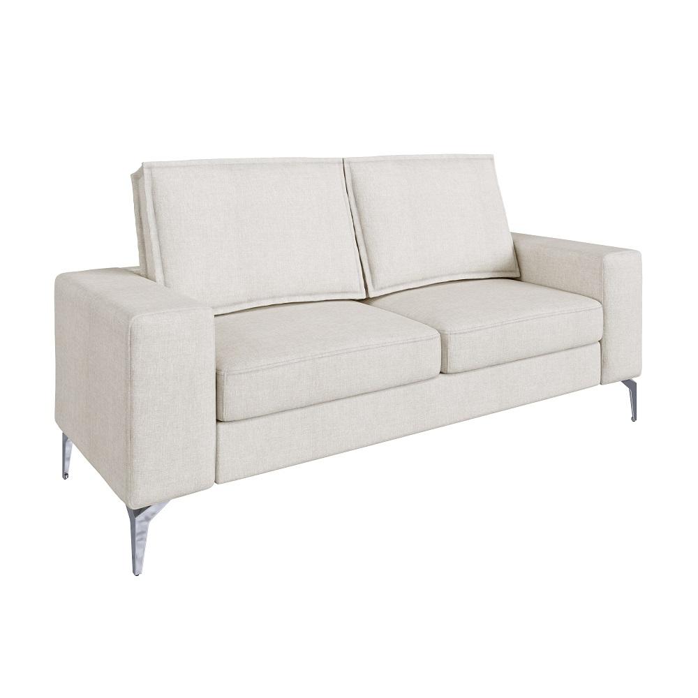 Sofá de 2 Lugares Bege Cru Toio