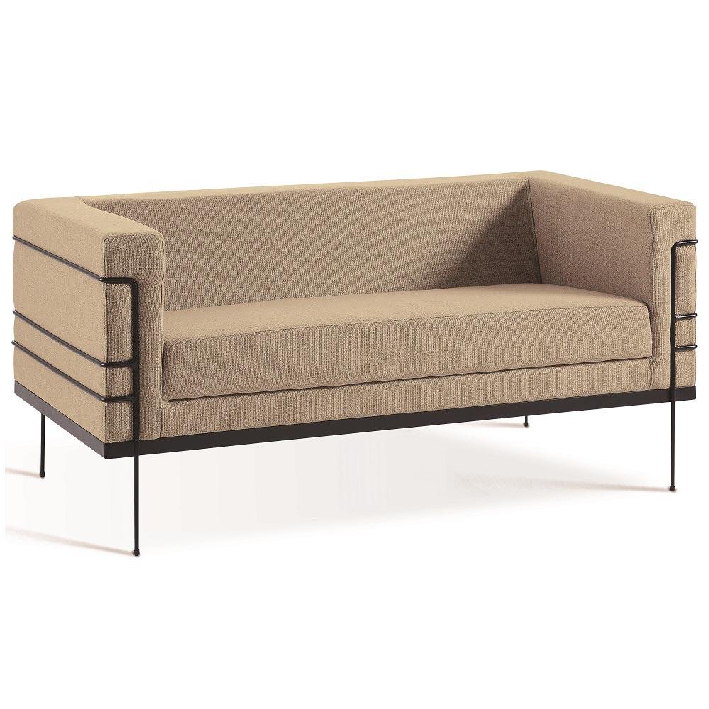 Sofá de 2 Lugares  Le Corbusier 2064 Bege