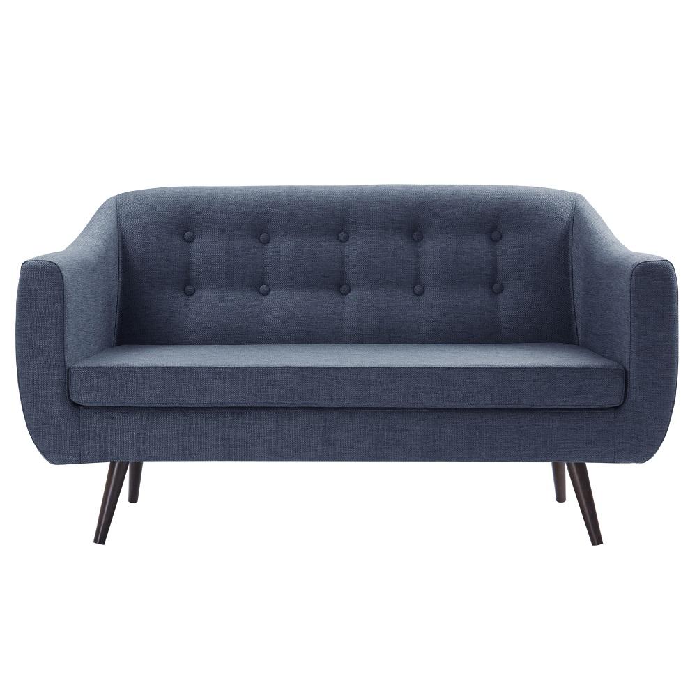 Sofá de 2 Lugares Mimo 7017 Azul Marinho