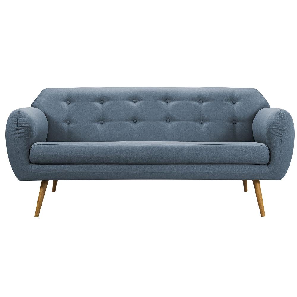 Sofá de 3 Lugares Beatle 7026 Azul Jeans