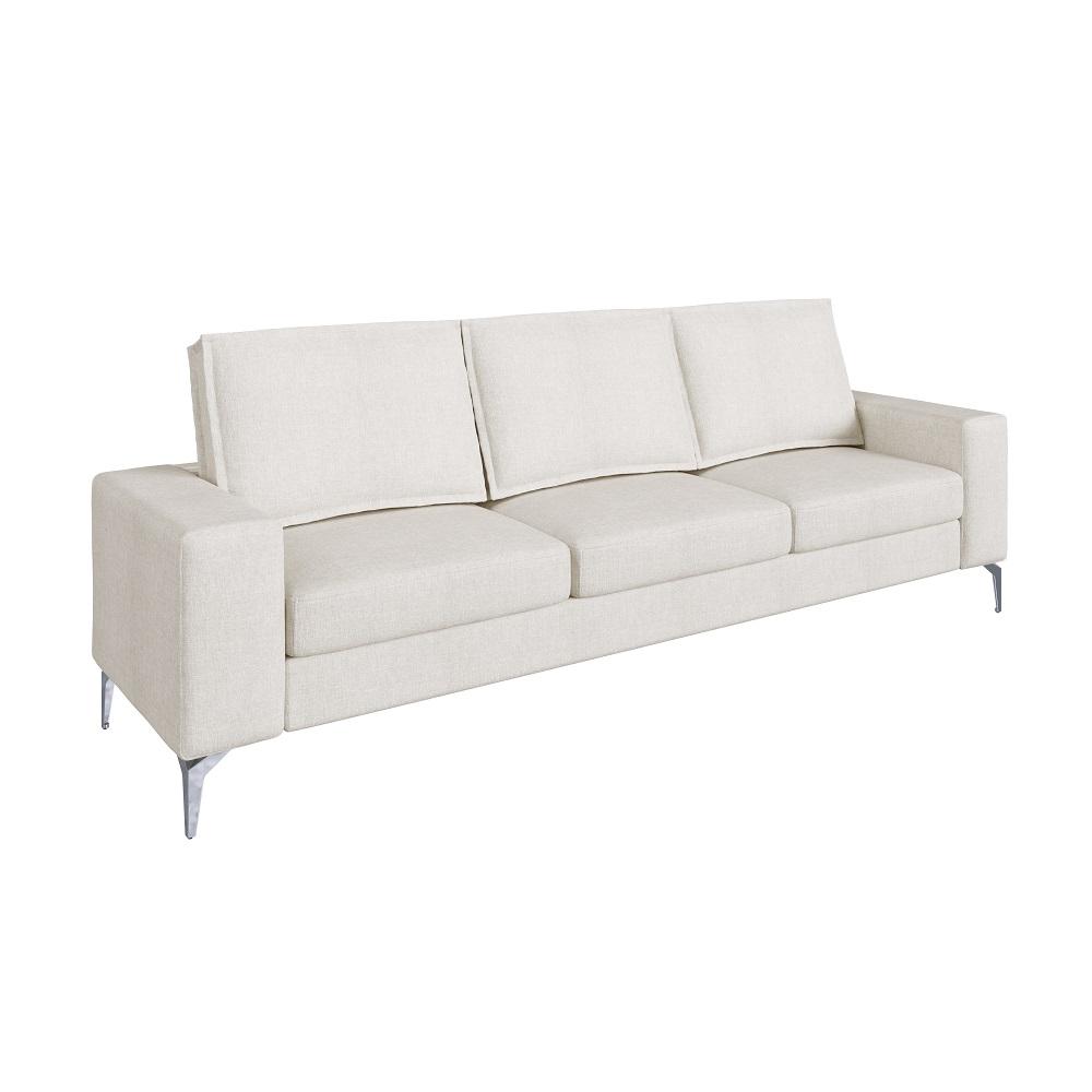Sofá de 3 Lugares Bege Cru Toio