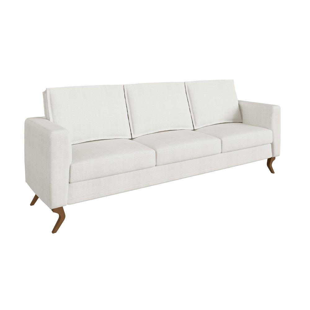 Sofá de 3 Lugares Cru Caprice