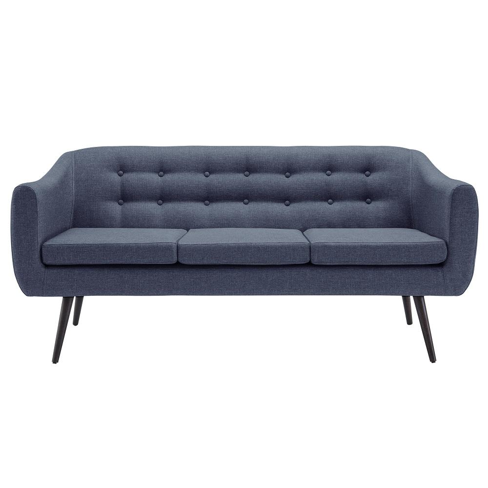 Sofá de 3 Lugares Mimo 7019 Azul Marinho