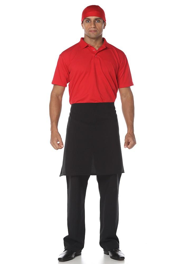 Avental de cintura garçom