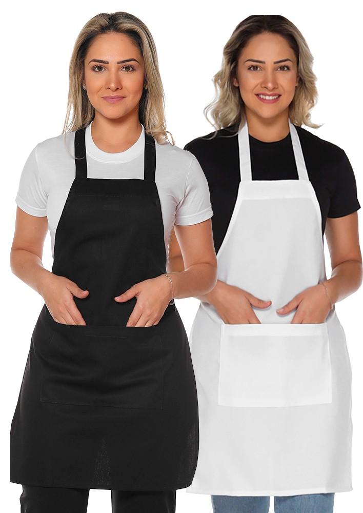 Avental de cozinha com bolso