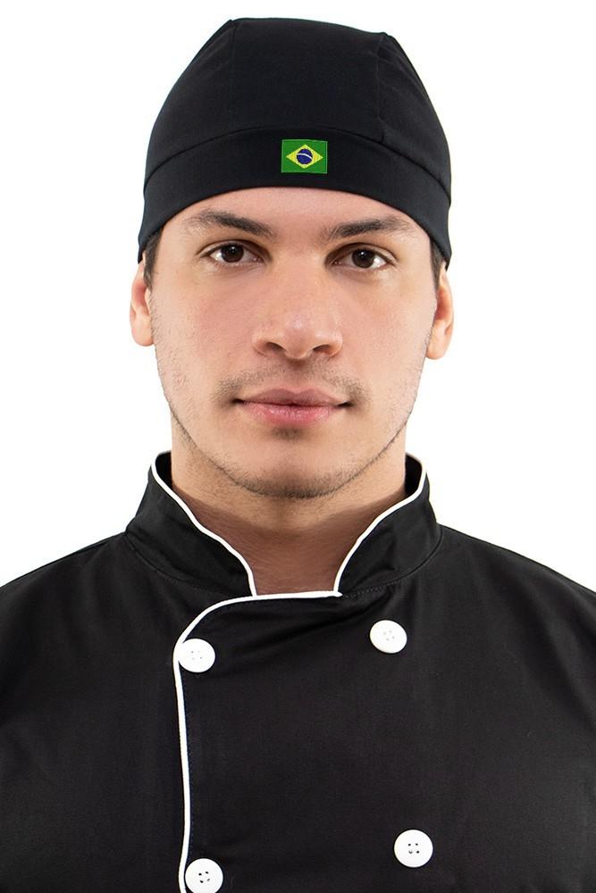 Bandana cozinheiro com tiras para amarrar e bandeira