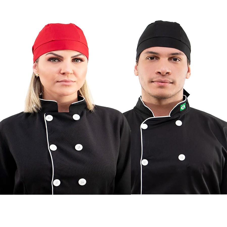 Bandana de amarrar chef padeiro confeiteiro garçons algodão