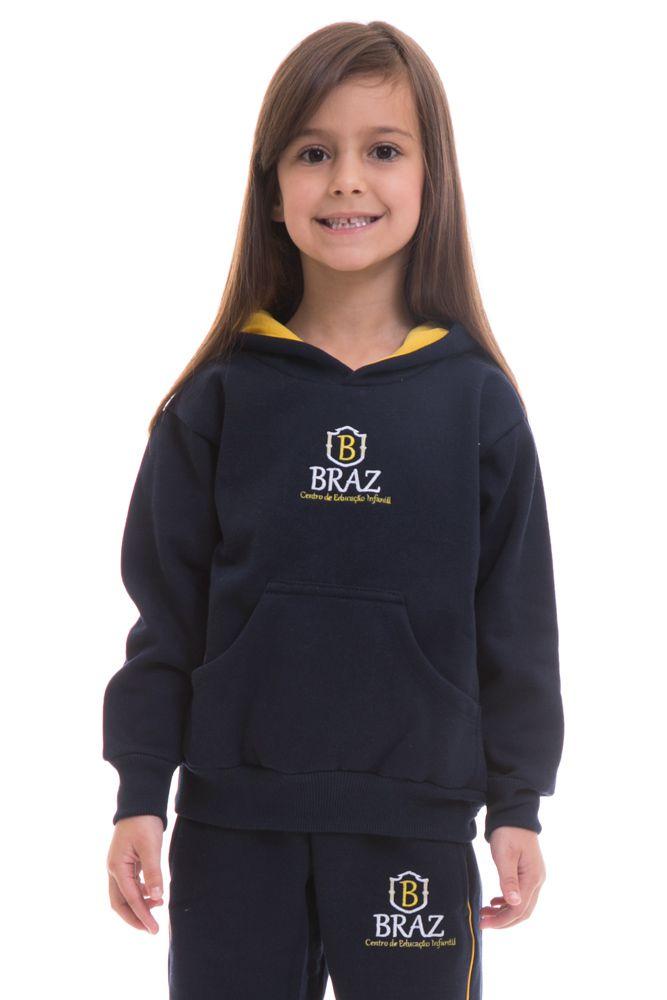 Blusa com capuz em moletom - Colégio Braz