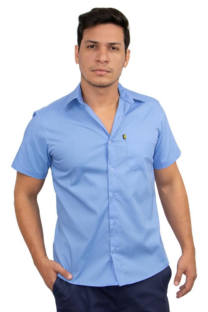 Camisa slim manga curta