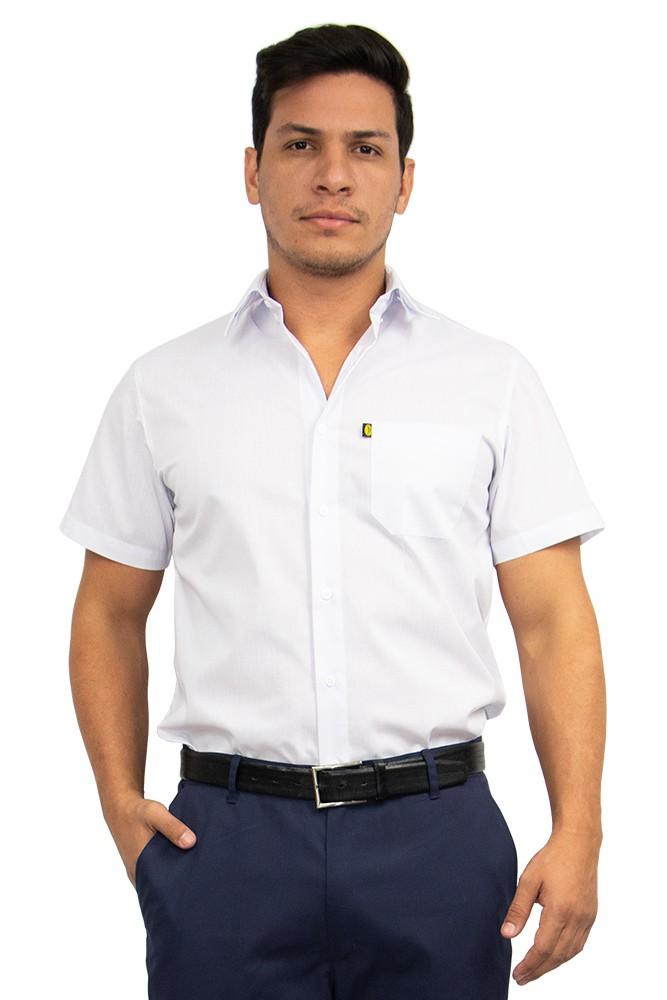Camisa masculina slim manga curta