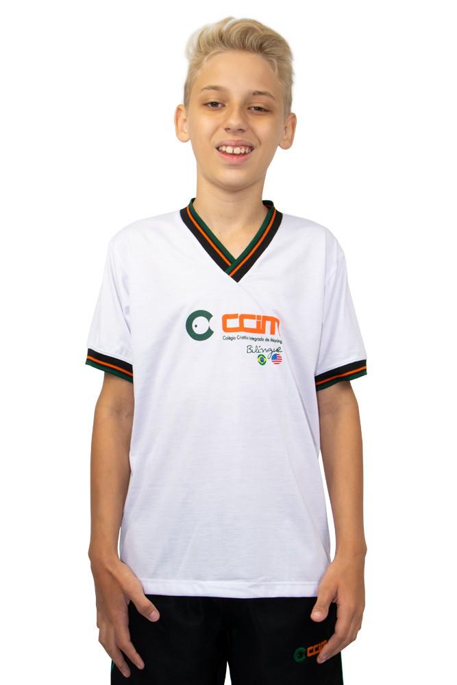 Camiseta manga curta bilingue em poliviscose - Colégio CCIM