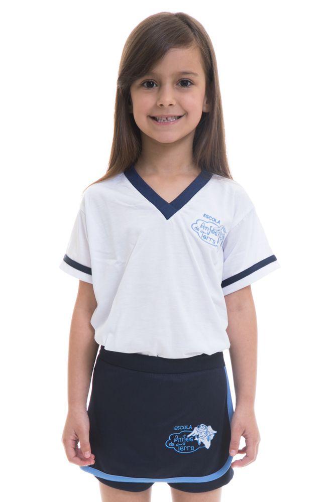 Camiseta manga curta em poliviscose  - Colégio Anjos da Terra