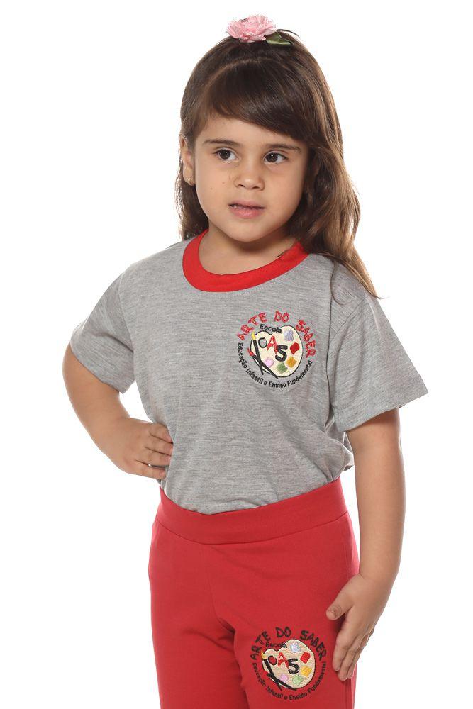 Camiseta manga curta em poliviscose - Colégio Arte do Saber