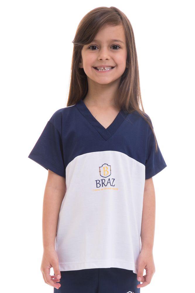 Camiseta manga curta em poliviscose - Colégio Braz