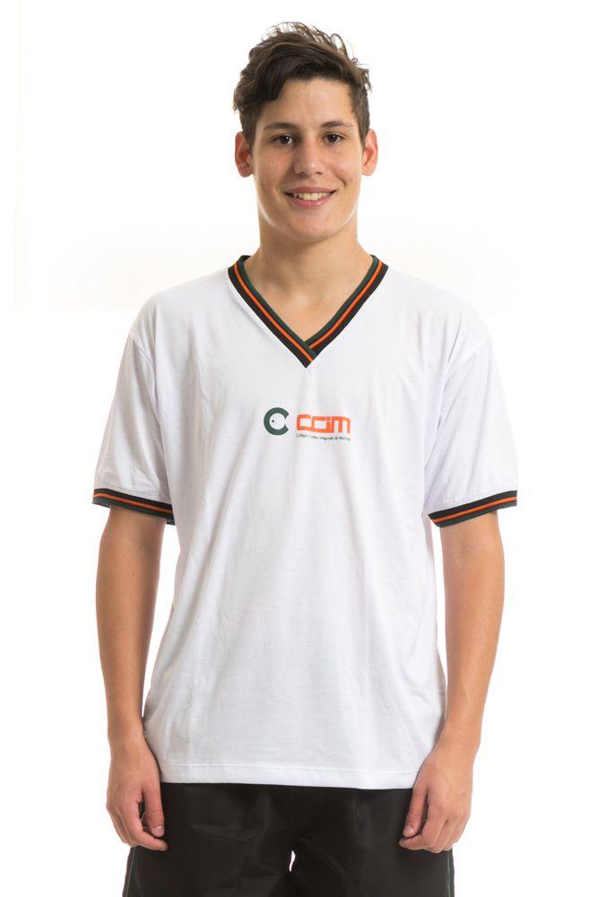 Camiseta manga curta em poliviscose - Colégio CCIM