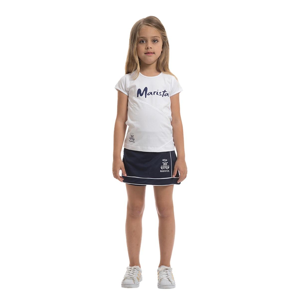 Camiseta manga curta malha confort - Colégio Marista Ref. F26