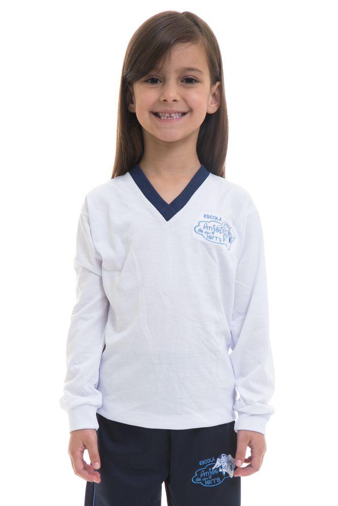 Camiseta manga longa em poliviscose - Colégio Anjos da Terra