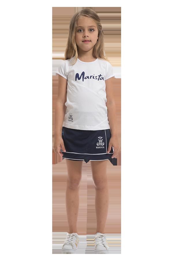 Camiseta manga curta malha confort branca - Colégio Marista Ref. F26