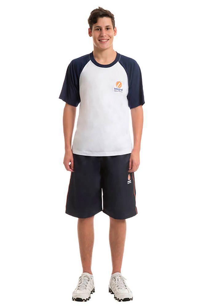 Camiseta manga curta em poliviscose - Colégio Integral