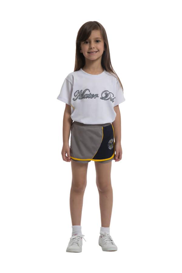 Camiseta manga curta em poliviscose. Colégio Mater Dei.
