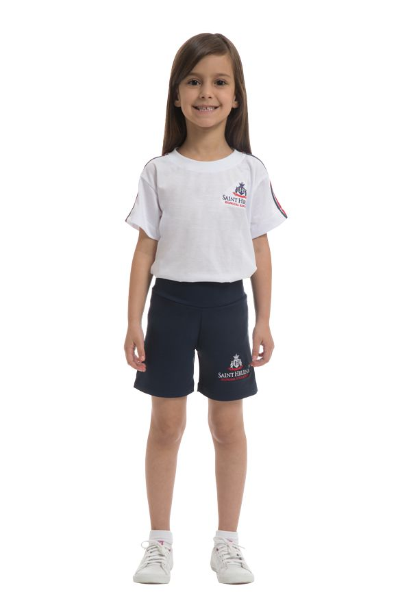 Camiseta manga curta em poliviscose. Colégio Saint Helena.