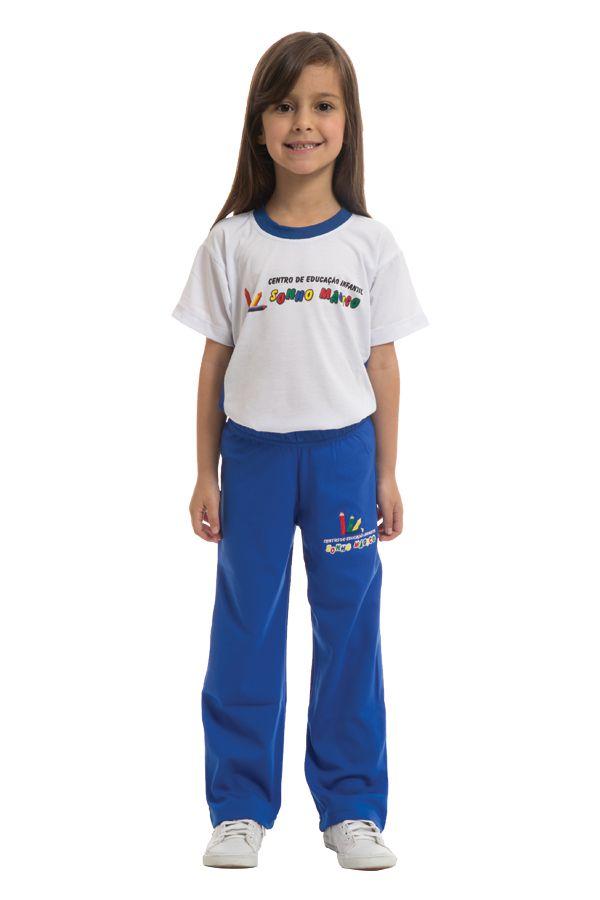 Camiseta manga curta em poliviscose. Colégio Sonho Mágico.
