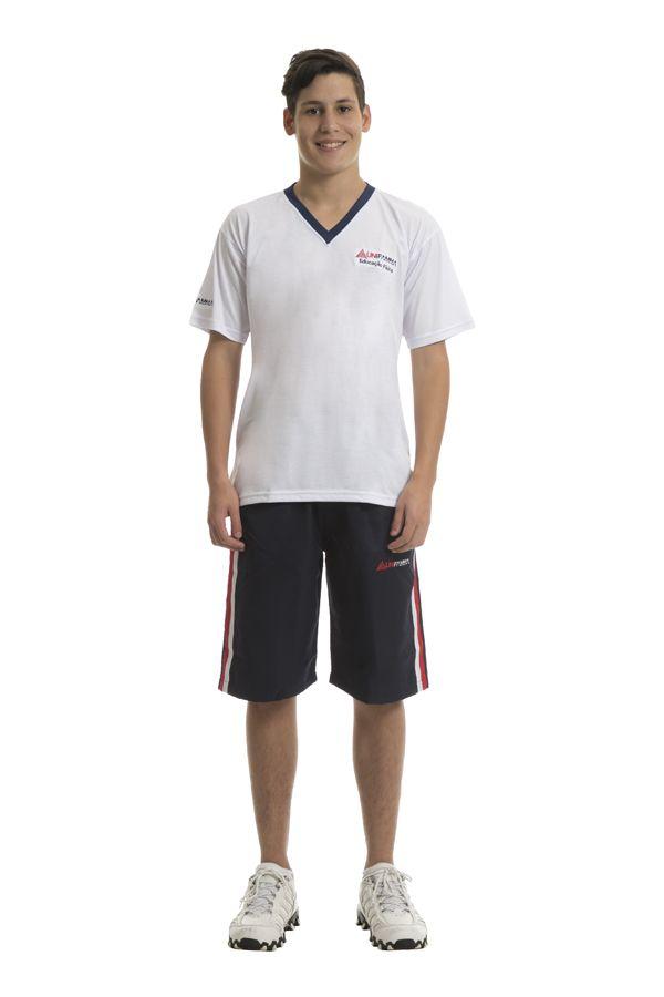 Camiseta manga curta em poliviscose. Colégio Unifamma.