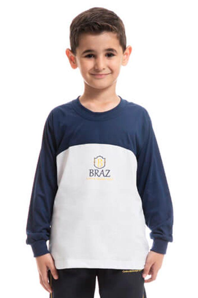 Camiseta manga longa em poliviscose - Colégio Braz