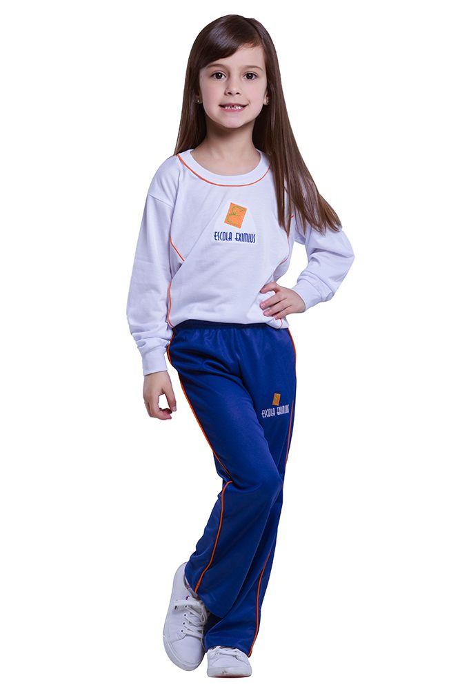 Camiseta manga longa em poliviscose - Escola Eximius