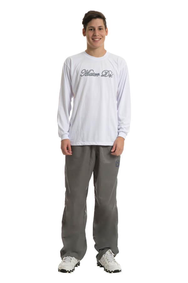 Camiseta manga longa em poliviscose. Colégio Mater Dei.