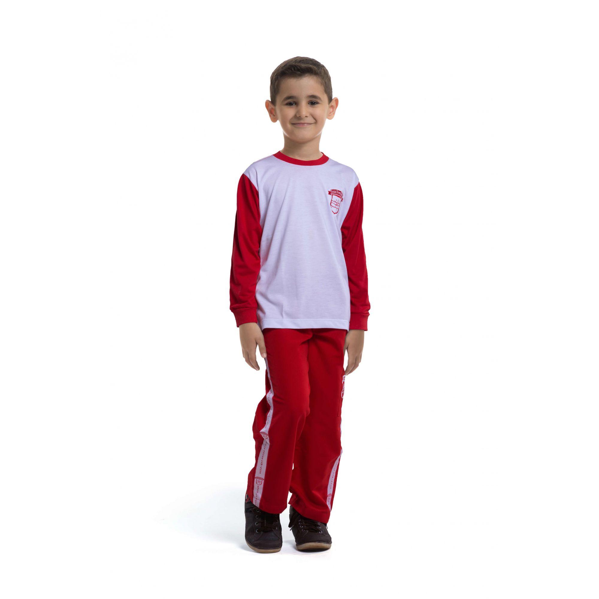 Camiseta manga longa em poliviscose. Colégio Novos Caminhos.