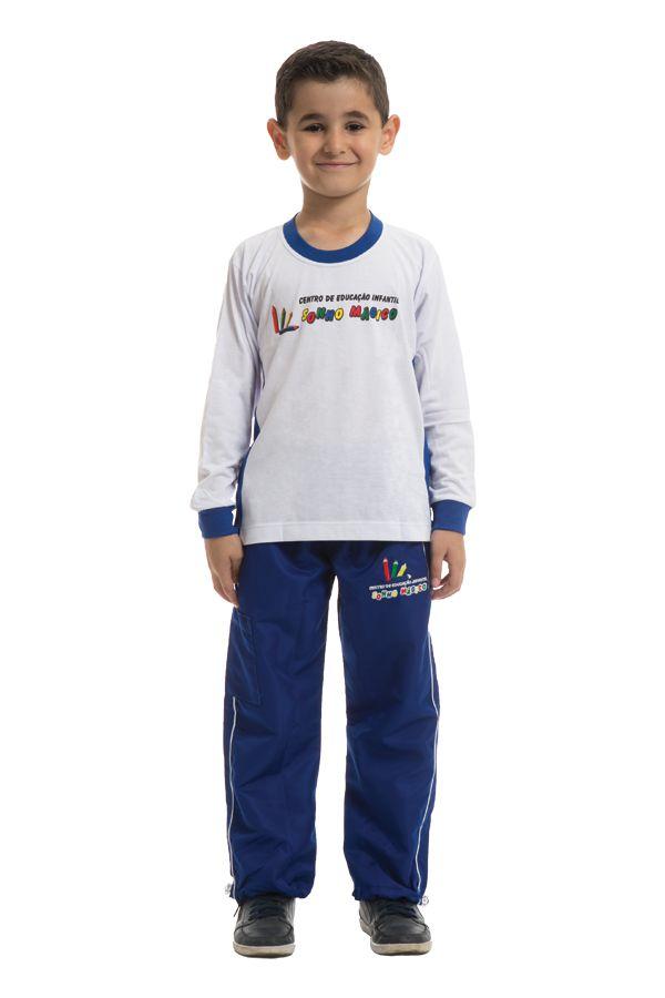 Camiseta manga longa em poliviscose. Colégio Sonho Mágico.