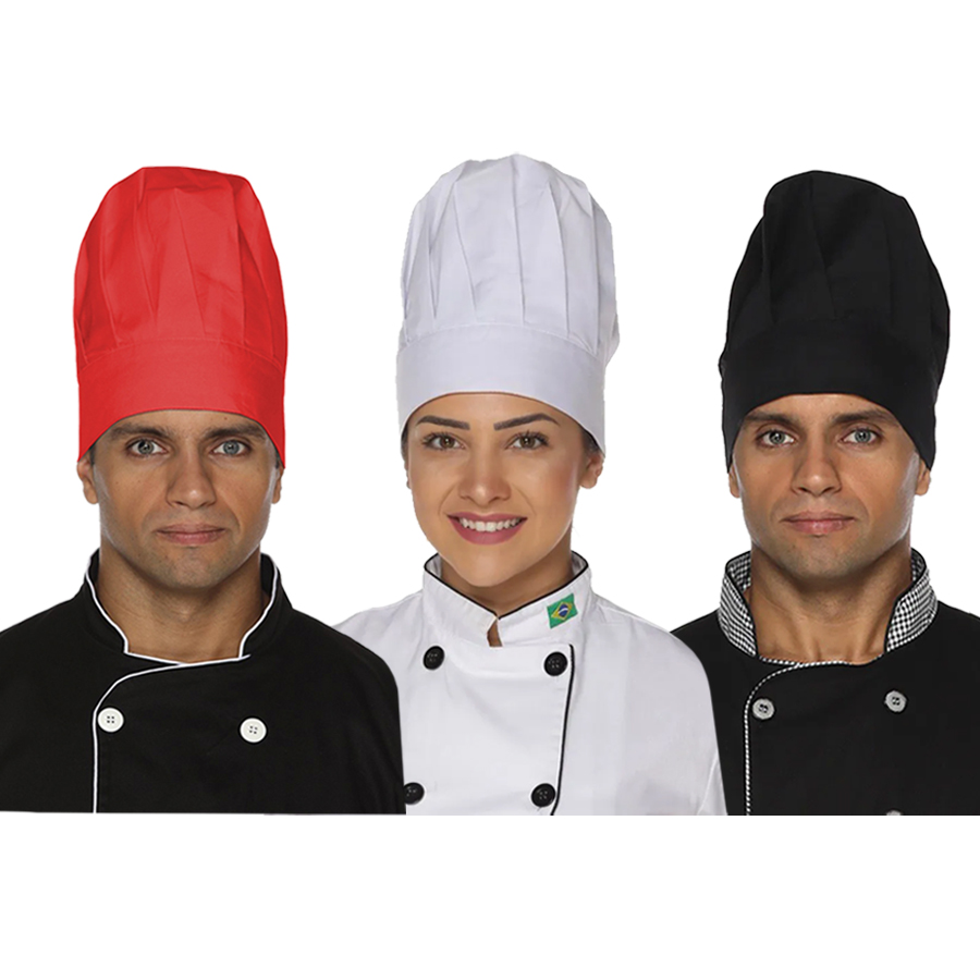 Chapéu de cozinheiro(a) com elástico
