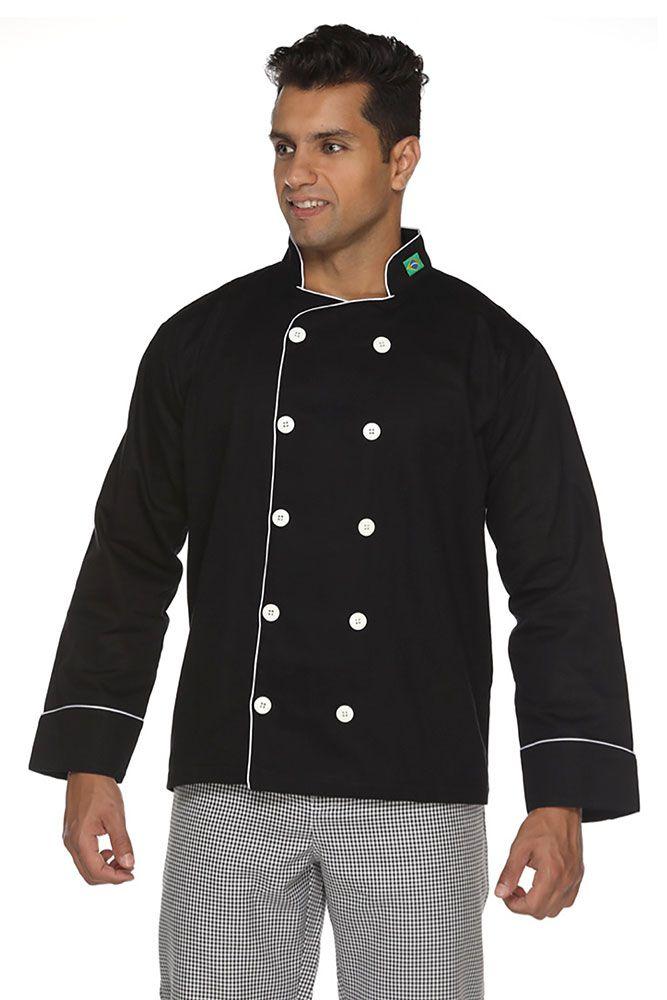 Dolmã chef cozinha masculino Algodão bandeira