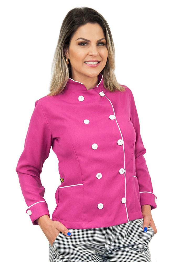 Dolmã chef de cozinha ou confeiteira feminina