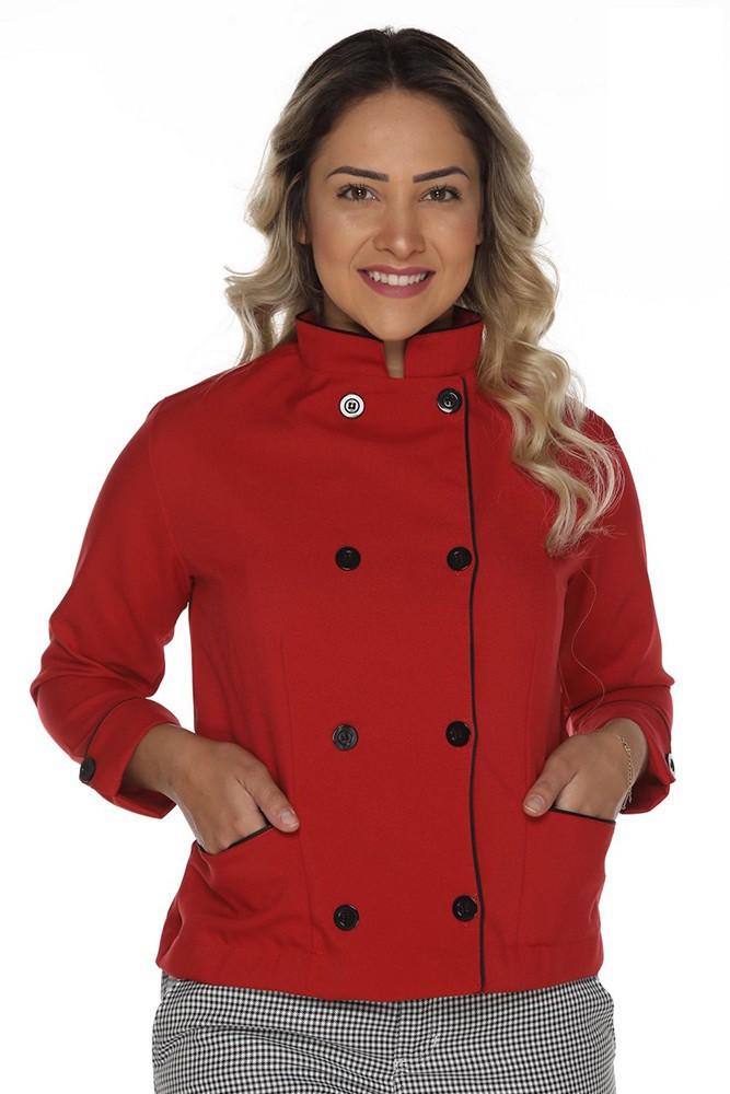 Dolmã chef de cozinha feminina