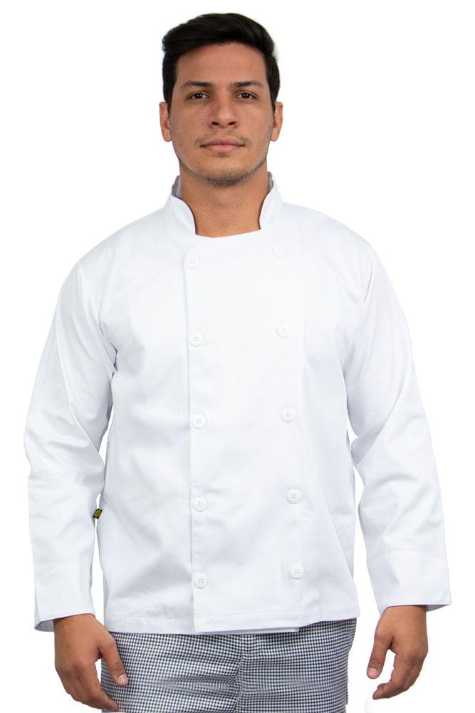 Dolmã chef cozinha masculino branco