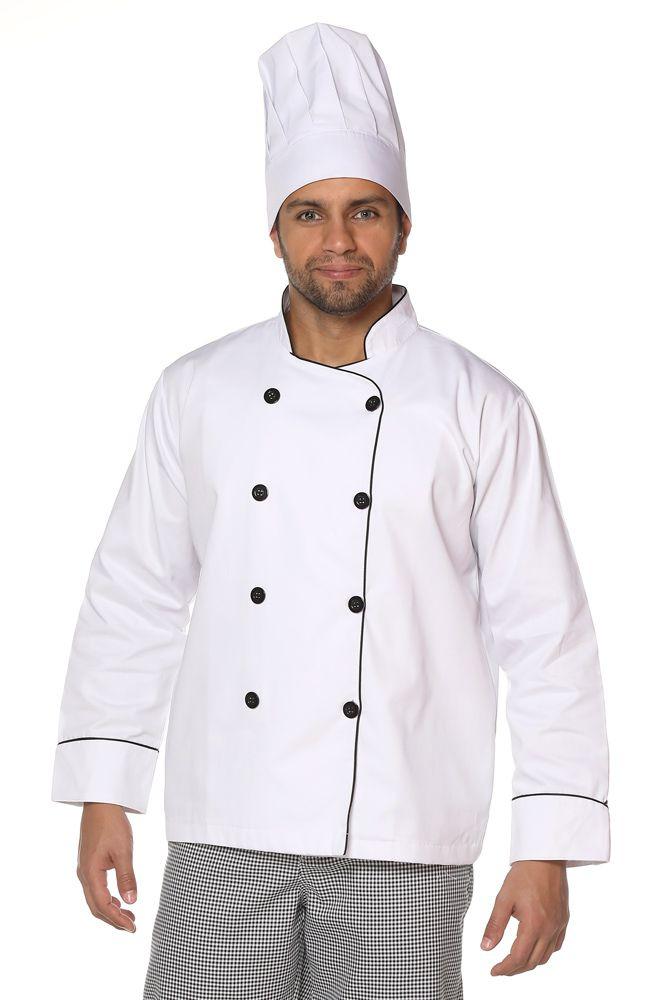 Dolmã chef cozinha masculino Oxford